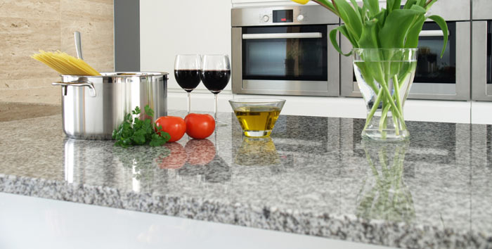 Granite countertops can sometimes contain trace amounts of radioactive elements